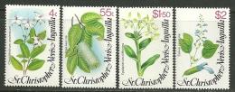 "St. Kitts-Nevis     ""Flowers""     Set    SC# 393-96    MNH** - St.Kitts And Nevis ( 1983-...)"