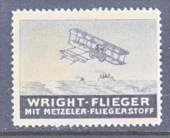 GERMANY  AEROPHILATELIC  VIGNETTE  PRIVATE  ISSUE  METZELLER  BALLOON  FABRICS   * - Airmail