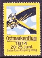 GERMANY  AEROPHILATELIC  VIGNETTE  OSTMARKENFLUG  1914   ** - Airmail