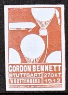 BELGIUM    AEROPHILATELIC  VIGNETTE  GORDON  BENNETT  BALOON  RACES  1912   * - Airmail