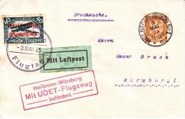 GERMANY  AEROPHILATELIC  FIRST  FLIGHT  MIT  UDET-FLUGZEUG  1925 - Airmail