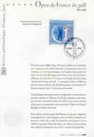 """2006 : Notice Officielle 1er Jour """" OPEN DE FRANCE DE GOLF """". N° YT 3935. Parfait état + Prix Dégressif !"""