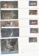 Australia 2000 Wildlife Set 5 Prepaid Envelopes Mint - 2000-09 Elizabeth II