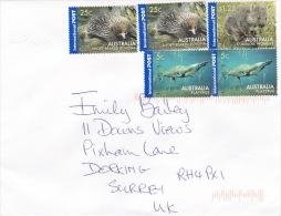 Australia 2007 Wildlife Stamps On Cover Posted To UK - 2000-09 Elizabeth II
