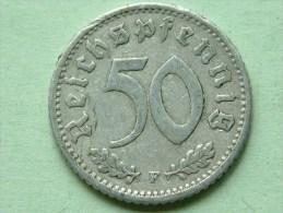1940 F - 50 ReinchsPfennig - KM 96 ( Uncleaned Coin / For Grade, Please See Photo ) !! - 50 Reichspfennig