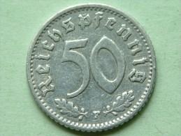 1942 F - 50 ReinchsPfennig - KM 96 ( Uncleaned Coin / For Grade, Please See Photo ) !! - [ 4] 1933-1945 : Troisième Reich