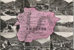 CPSM ANDORRA - Carte Département - Andorra