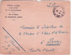 """1920 / 22 - Env. à En-tête """" Forces Alliées D'Occupation De La Haute Silésie """" 46è Division De Chasseurs Alpins - Military Postmarks From 1900 (out Of Wars Periods)"""