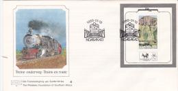 South Africa Transkei 1989 Train Mini Sheet FDC - Transkei