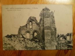 02 : Anizy-le-Château En Ruines - L'Eglise - Remains Of The Church - Militaria - Guerre - Plan Inhabituel - (n°1467) - Frankrijk