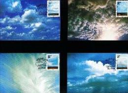 CISKEI, 1992, Cloud Formations,  Mint Maxicards, Nr(s.) 84-87 - Ciskei