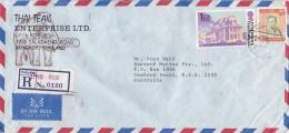 Thailand 1981 Registered Airmail Cover To Australia - Thailand