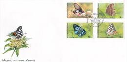Thailand 2001 Butterflies FDC - Butterflies