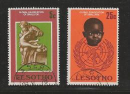 LESOTHO 1978 CTO Stamps Smalpox 254-255 #2813 - Disease