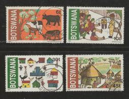 BOTSWANA 1982 CTO Stamp(s) Children Drawings 291-294  #1622 - Childhood & Youth