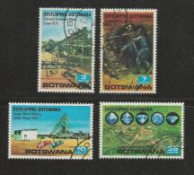 BOTSWANA 1970 CTO Stamp(s) Mining 58-61  #1575 - Minerals
