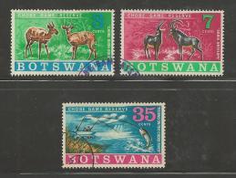 BOTSWANA 1967 CTO Stamp(s) Chobe Game Reserve 37-39 #1569 - Holidays & Tourism