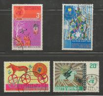 BOTSWANA 1973 CTO Stamp(s) I.M.O.-W.M.O. 96-99 #1585 - Organizations