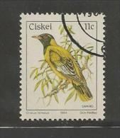 CISKEI 1984 CTO Stamp(s) Birds 56 #3330 - Birds
