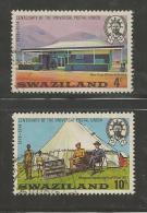 SWAZILAND 1974 CTO Stamp(s) U.P.U. Centenary 214-217 (2 Values Only, Not Complete) - U.P.U.