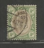 TRANSVAAL 1902  Used Stamp(s) Edward VII 1/2d Green-black Saccnr. 102 - Zuid-Afrika (...-1961)