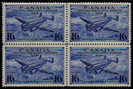 C5013 CANADA 1942, SG S13 Ultramarine, Special Delivery, Air  MNH Block Of 4 - Airmail: Special Delivery