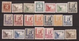 ES814-L3998TCSC.España Spain Espagne CIFRAS, CID E ISABEL 1937-1940 (Ed 814/31**)sin Charnela.MAGNIFICA - Celebridades