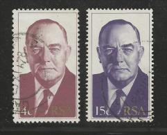 SOUTH AFRICA 1978 Cancelled Stamp(s) B.J. Vorster 546-547 #3542 - South Africa (1961-...)