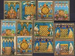 Olympiade Malta 1980 Schach Paraguay 3337/43 In 6ZD O 12€ Miniatur-Gemälde König Alfons Chess Sport Se-tenant Of America - Echecs