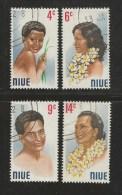 NUIE 1971 CTO Stamp(s) Portraits 120-123 #3007 - Niue