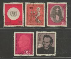 GERMANY 1966 Cancelled Stamp(s)  Mainly  Single Comm. (5 Stamps) 504=526 - [7] Federal Republic