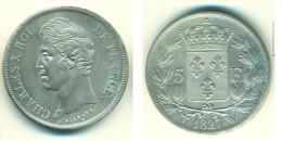 CHARLES X 5 FRANCS 1827 LILLE - France