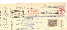 Lettre Change 30/3/ 1918 LIEBER Modes En Gros LYON Rhône Pour Joinville Haute Marne - Timbre Fiscal - Lettres De Change