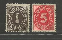 Curacao 1936 Cancelled  Stamp(s)  Definitives , 2 Values Only Thus Not Complete - Curacao, Netherlands Antilles, Aruba