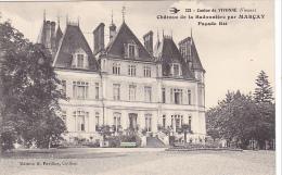 22502 Vivonne - Château De La Badonnière Par Marcay -facade Est -ed Pavillon Coiffeur 221 Hirondelle - France