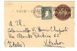 500/264 - IRLANDA , Intero Postale Del 4/9/51 Da  Baile Átha Cliath Per L'Italia - Interi Postali