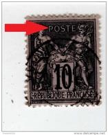 YT 89 - Sage 10c Noir Sur Lilas - Variété Impression Fine + Surencrage (Joli - Anneau Lune) + Centrage - CAD - 1876-1898 Sage (Tipo II)