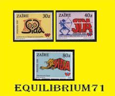 1335/1337**  Lutte Contre Le SIDA / Strijd Tegen AIDS - ZAIRE - Zaire