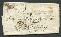 1846  RARA PREFILATELICA  DA PALERMO  X   FIRENZE   TASSAZIONE 60 INTERESSANTE DOCUMENTO - Italia