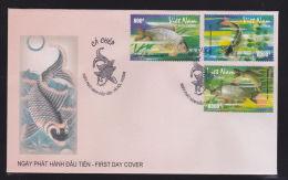FDC Vietnam Viet Nam 2008 : Carp / Fish (Ms969) - Vietnam