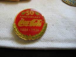 Pin´s Du 50e Anniversaire De Coca Cola 1886-1936 - Coca-Cola