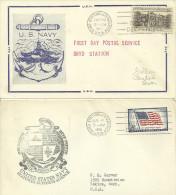 ANTÁRTIDA - ESTADOS UNIDOS-USA / BIRD STATION 30.05.1957 / BIRD STATION 04.07.1958 - Research Stations