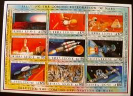 SIERRA LEONE Cosmos. Exploration De La Planete Mars (saluting The Coming Exploration Of Mars) 4 Feuillets ** MNH - Space