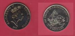 ILES COOK //  5 DOLLARS 1991  //  ETAT  SPL - Cook Islands