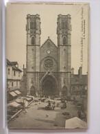 71 - CHALON SUR SAONE - CATHEDRALE ST VINCENT - ANIMEE - JOUR DE MARCHE - 1904 - Chalon Sur Saone