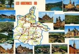 08 -   Carte Geographique Du Département Des ARDENNES - Chaeleville Restel Sedan Vouziers - - Ohne Zuordnung