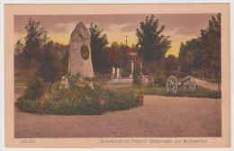 Jülich, Schloßplatz, Friedrich Gedenkstein, Geschütz, Musiktempel, Feldpostkarte 1938, NRW - Juelich