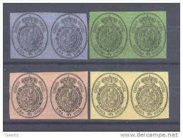 ES035-L2991TESSC.Spain.Espagne   .ESCUDO  DE ESPAÑA.1855. (Ed 35/8** Par) Sin Charnela  .Muy Bonitos - Escudos De Armas