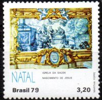 BRAZIL 1979 Christmas. Tiles From The Church Of Our Lady Of Health And Glory, Salvador - 3cr20 The Birth Of Jesus  MNH - Ungebraucht