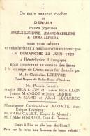 DEMUIN (Somme) : Bénédiction Des Cloches 1929 - Francia